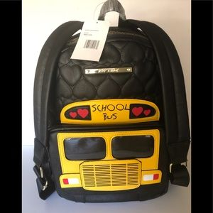 Betsy Johnson wheels school bus Quilted backpack